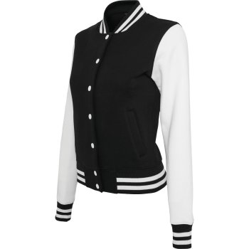 Build Your Brand Ladies` Sweat College Jacket
