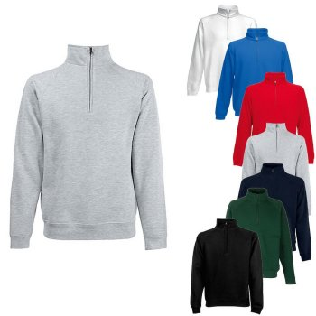 Fruit of the Loom Premium Zip Neck Raglan Sweat