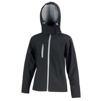 Result Core Ladies` TX Performance Hooded Soft Shell Jacket