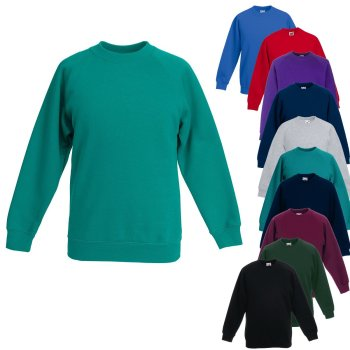 Fruit of the Loom Kids Classic Raglan Sweat