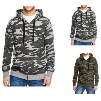 Burnside Full Zip Camo Hooded Sweat Jacket
