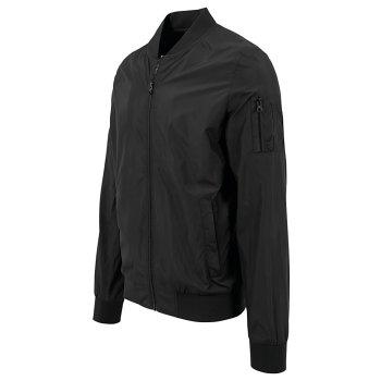 Build Your Brand Nylon Bomber Jacket