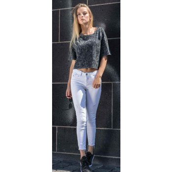 Build Your Brand Ladies` Acid Washed Cropped Tee