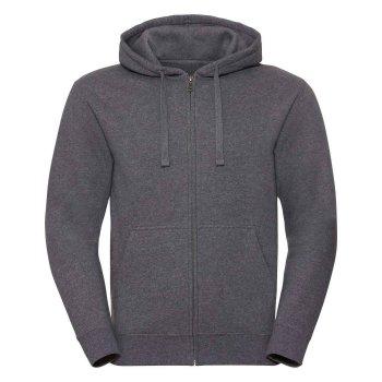 Russell  Men`s Authentic Melange Zipped Hood Sweat