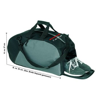 Sporttasche Relax mit Schuhfach schwarz-grau
