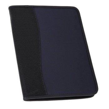 Konferenzmappe Avanti mit Block, schwarz/blau