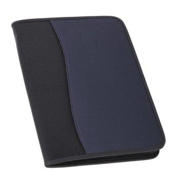 Konferenzmappe Avanti, A4 mit Reißverschluss, schwarz/blau