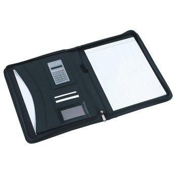 Portfolio Noblesse im DIN-A4-Format mit Rechner und Schreibblock